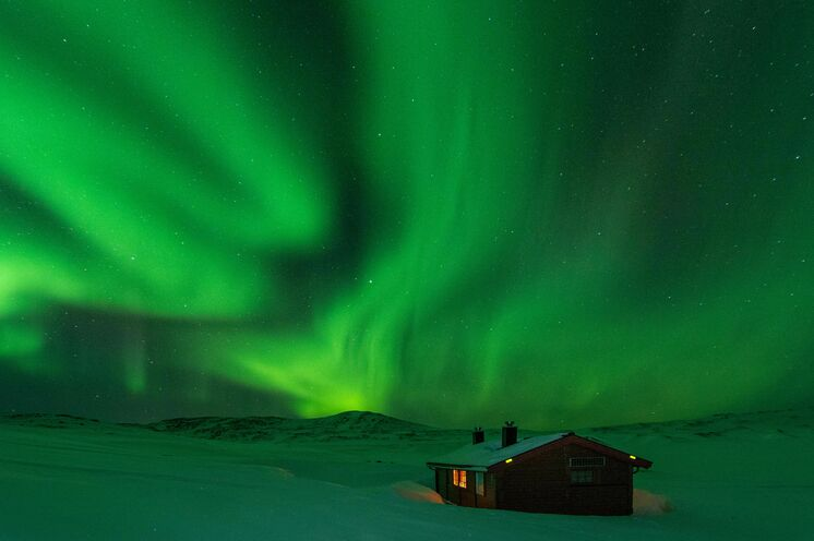 Und in der Nacht die wunderbaren Polarlichter