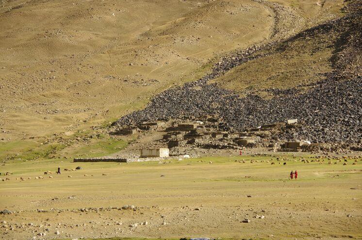 Einfaches Leben im Hindukusch in der Nähe des Shandur Pass.