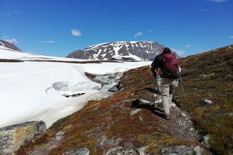 In der Heimat der Trolle geht es auf den höchsten Berg im Nordosten des Trollheimen-Gebirges. Der Blåhø  - also der Blaue Berg mit seinen 1671m