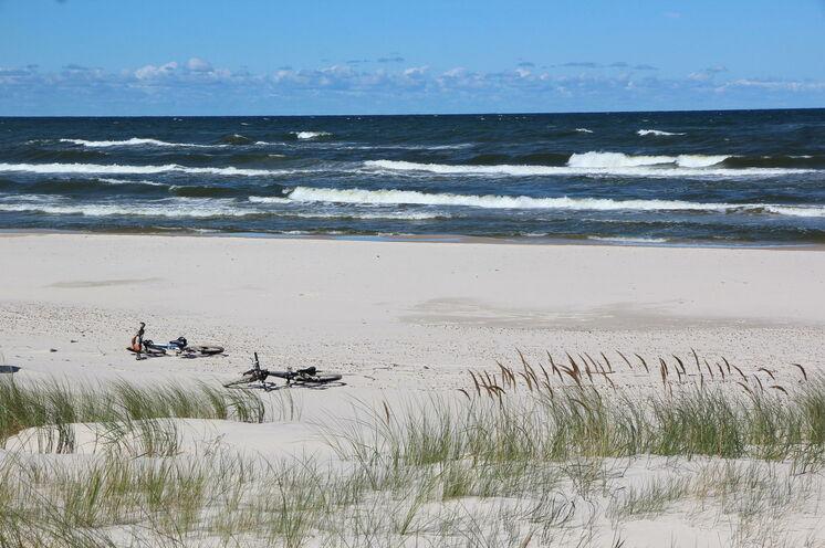 und bis zum Strand ...
