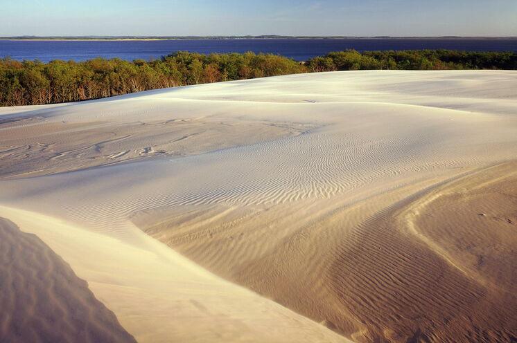 """Die """"polnische Sahara"""" - mit pro Jahr bis zu 10 m wandernden Dünen..."""