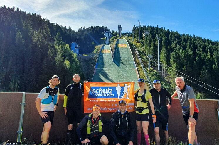 Perfektes Treppentraining :-) ist an den Oberhofer Skisprungschanzen möglich