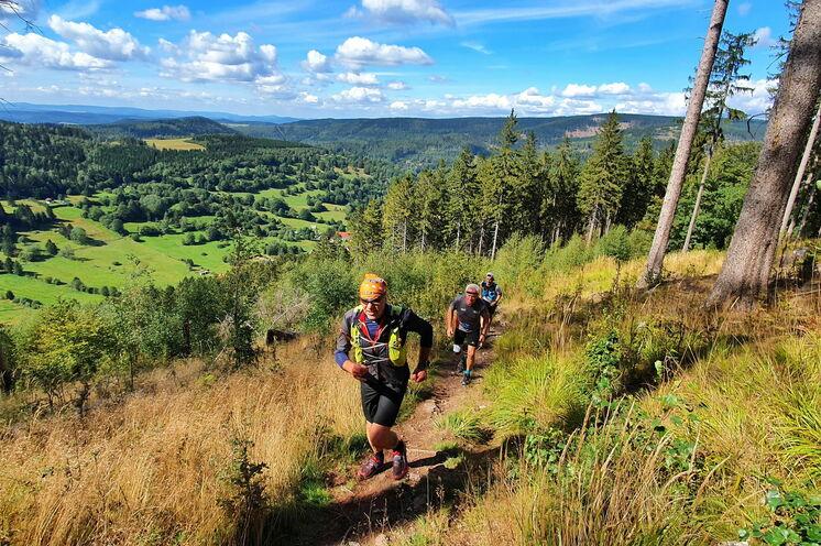 Hoch über Oberschönau - das idyllische Feriendorf ist der Ausgangspunkt unserer zweiten Etappe