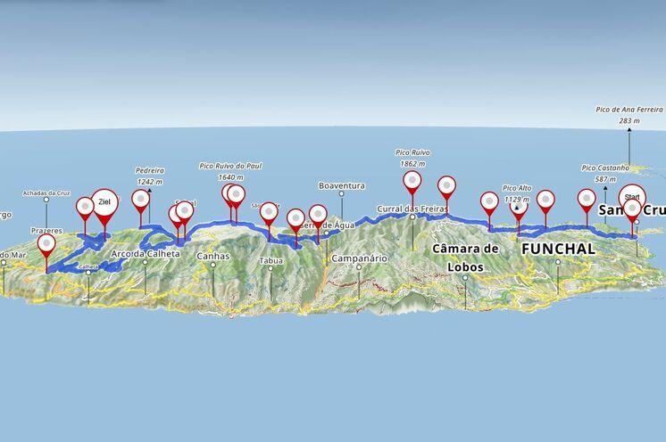 Madeira Trailrun - Von Ost nach West- Eine wirkliche Inselüberquerung! Ohne Wettkampfcharakter