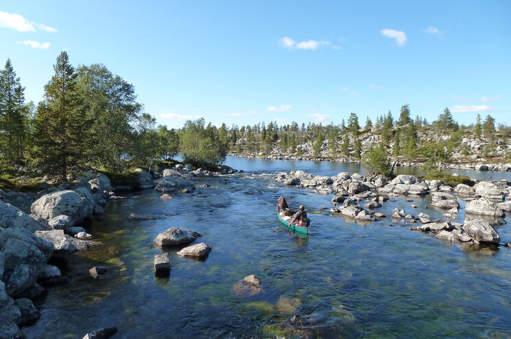 Paddeln auf dem Storån oder dem Idresjön