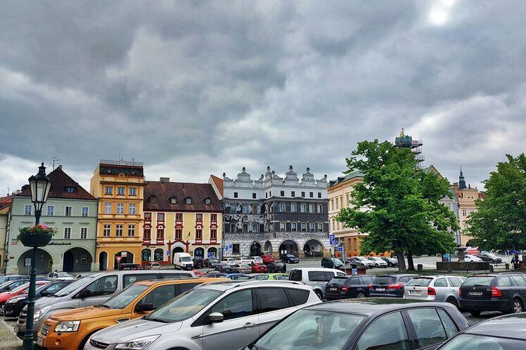 Der Marktplatz von Leitmeritz