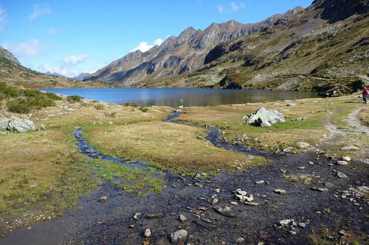 """Hier auf dem Hochplateau ist alles """"im Fluss"""" (Foto: R. Schönsee)"""