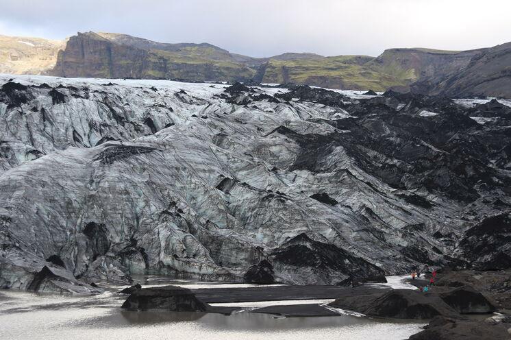 Kurzwanderung Sólheimajökull - auf Tuchfühlung mit eisigen Riesen