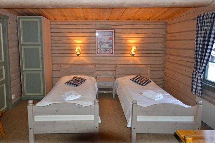 Die urigen und gemütlichen Doppelzimmer im Hotel welches sehr schön hoch über dem Siljansee gelegen ist