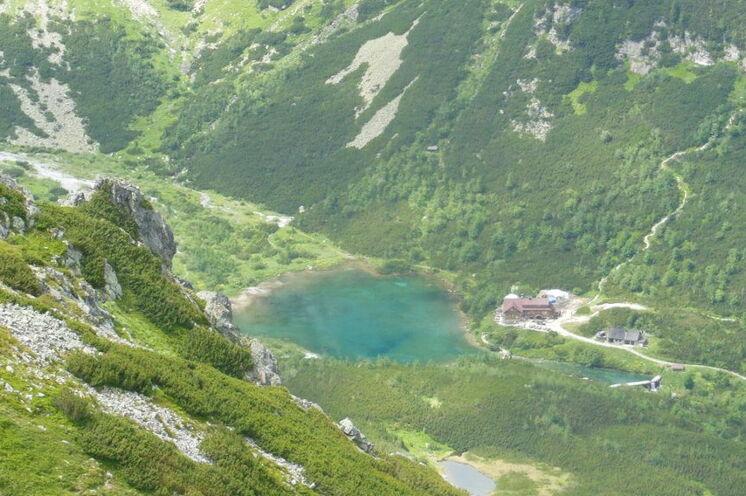 Zelene dolina mit dem See Zelene Pleso (dt. Grünes Tal) und Grüner See