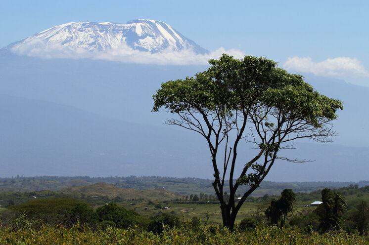 Vom Arusha Nationalpark bietet sich zudem ein sehr guter Blick auf den Kili