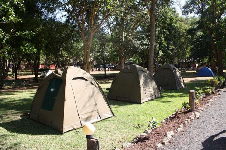 Sie übernachten auf Campingplatzen in 2-Pers.-Zelten oder...