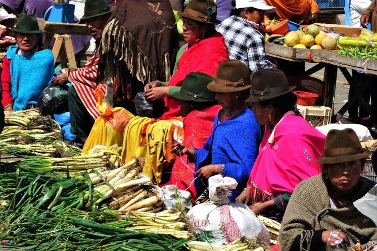 Besuch auf dem bekannten Otavalomarkt.