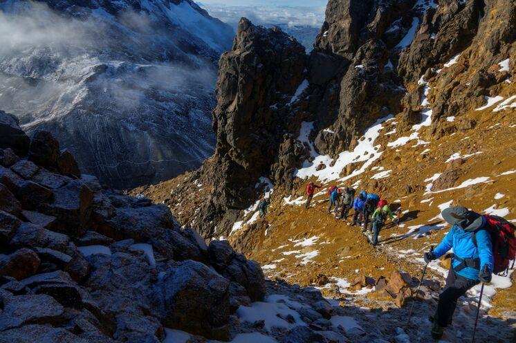 Optimale Akklimatisation durch zahlreiche Gipfeltouren