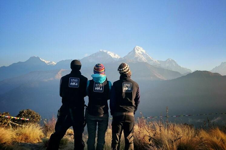 Blick vom Poon Hill auf die 8000er - willkommen in Nepal