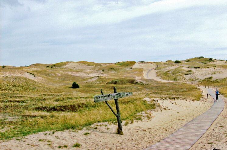 Die schier endlosen Sanddünen der Kurischen Nehrung...