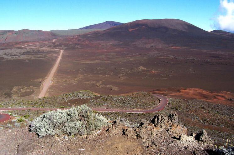 Die Anfahrt zum Vulkan Piton des Neiges