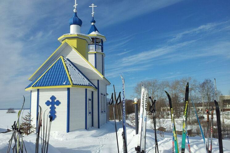 Skipause an Kareliens schönsten Wahrzeichen