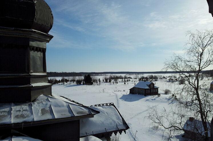 Da ist nur die eine Spur im Winter, die unserer Gruppe :-).