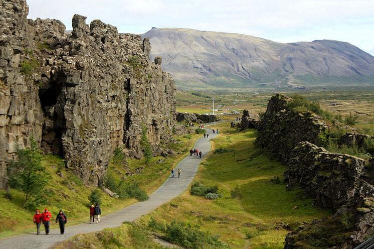 3. Ring-Höhepunkt: Der Nationalpark Þingvellir - geologisch und historisch höchst interessant.
