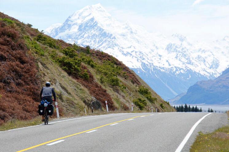 Fahrt in Richtung Mt. Cook