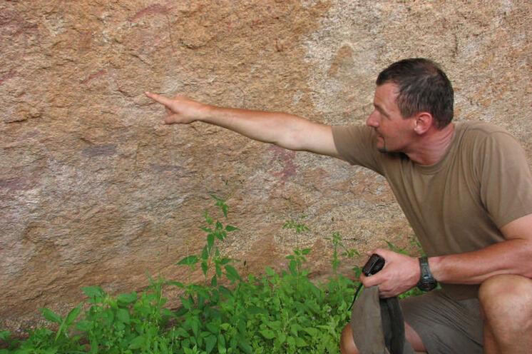 Entdeckungen bei den Bushmenmalereien.