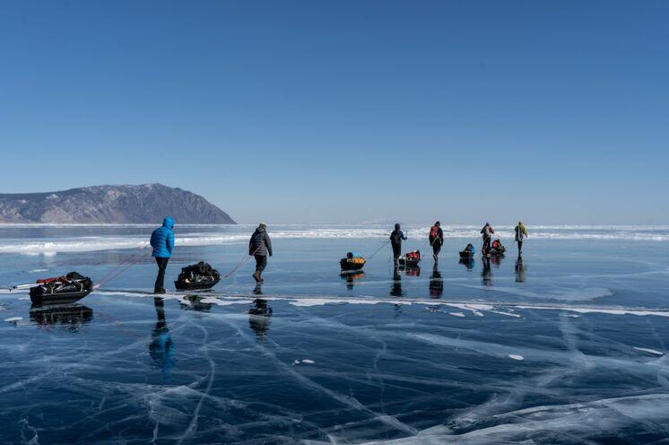 In Bewegung kann es auch im sibirischen Winter warm werden.
