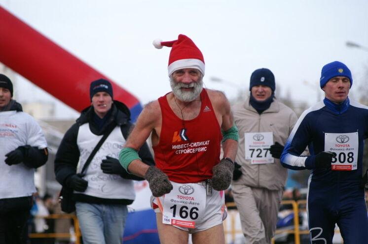 Siberian Ice Half Marathon in Omsk: Wo zur russischen Weihnacht ein Halbmarathon stattfindet...